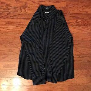 Black Stripped button down shirt.